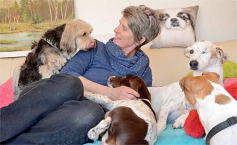 Franziska Feldsieper mit Hunden